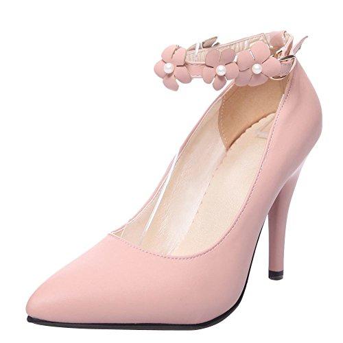 MissSaSa Donna Sottile col Tacco Alto Dolce e Elegante Rosa