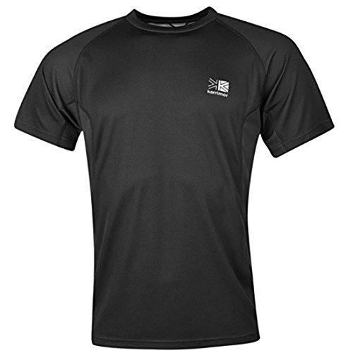 Karrimor Herren Aspen Technical T-Shirt Rundhals Kurzarm Tee Top Sportshirt Schwarz/Dunkelgrau