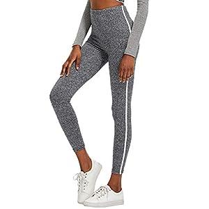 SOLY HUX Damen Leggins Doppelt Streifen Seitenstreift Laufhose Sport Leggings Capris Yoga Pants Training Hose