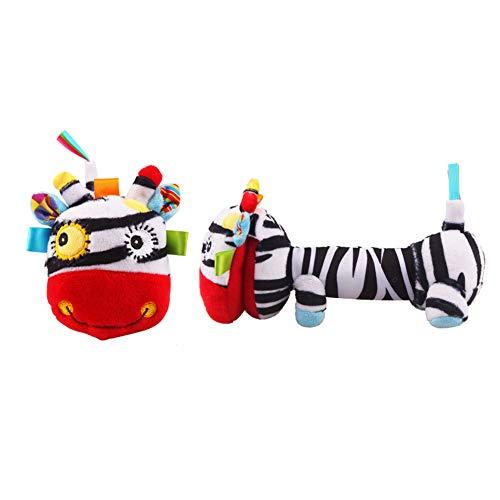 Baby Rassel Spielzeug Plüschtier Esel Greiflinge Babybett Kinderwagen Auto-Sitz Spielzeug mit BB-Gerät und Glocke Neugeborenes Aktivität Entwicklungs-Spielzeug, Affe - Und Baby-affe-autositz Kinderwagen