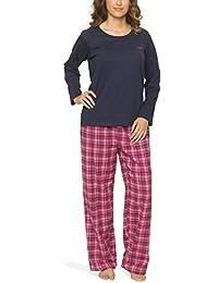 Damen Schlafanzug mit Flanellhose - Moonline