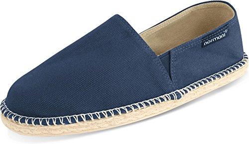 normani Sommerschuhe für Damen | Espadrille mit praktischem Baumwollbeutel Farbe Pacific Deep Blue Größe 39 EU