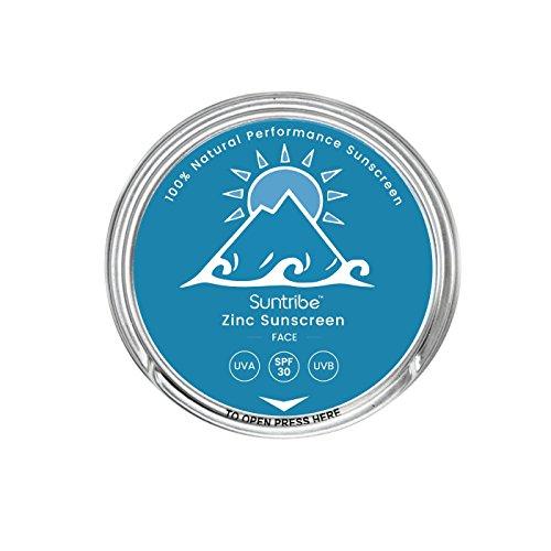 Suntribe Bio-Gesichtssonnencreme LSF 30-100% Zink – Riff freundlich - 3 Inhaltsstoffe (30ml)