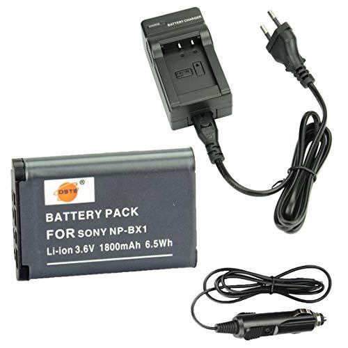 DSTE Ricambio Batteria e DC134E Caricabatteria per Sony NP BX1Cyber shot CX240HDR PJ10E CX240E DSC RX10II RX1B DSC RX1R DSC RX1DSC RX1R/B DSC