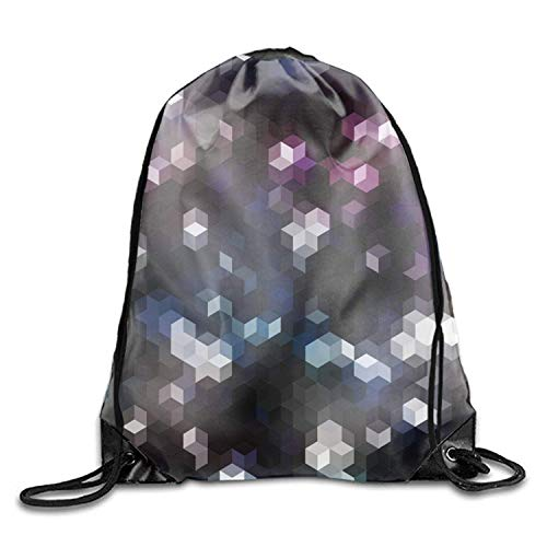 sexy world Special Geometric Grips Sackpack Drawstring Backpack Waterproof Gymsack Daypack for Men Women