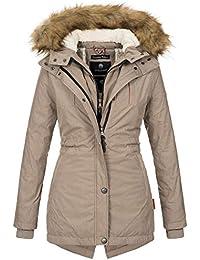 Marikoo Designer Damen Winter Parka warme Winterjacke Mantel Jacke B601 f1ced84c65