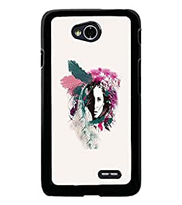 PrintDhaba Abstract Design D-5570 Back Case Cover for LG L70 (Multi-Coloured)
