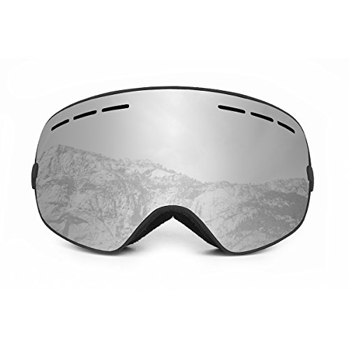 OCEAN SUNGLASSES Cervino Sonnenbrille Schnee Polarisiert Unisex Erwachsene, Black Frame/Revo Silver Lens