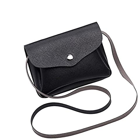Sac LILICAT Mode Sac à main en cuir femme simple Crossbody Shoulder Bags Sacs Messenger Téléphone Mini sacs (Black)