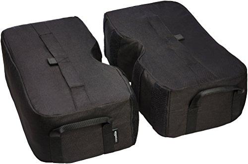 AmazonBasics Sac de lest pour embase de parasol extérieur, Ensemble 2 pièces amovibles carré