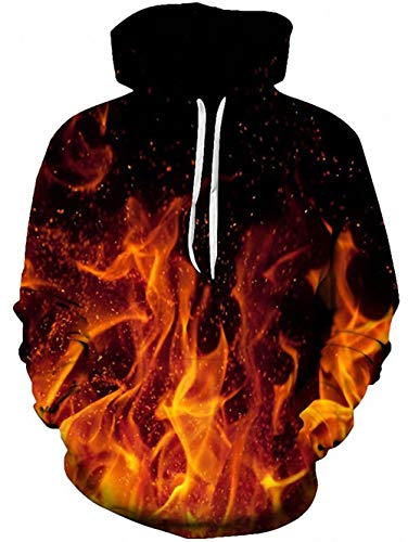 TUONROAD Unisex Hoodie 3D SchäDel Sweatshirt Kapuzenpullover Pullover ÜBergrößE Tops Hoodie Langarm Casual Kapuzenjacke Mit Taschen Schädel-sweatshirt