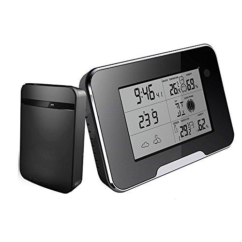 HOKATec FULL HD 1080p Kamera, Digitale-Wetterstation inkl. Außensensor, neuste Version FULL HD 1080p 1920 x 1080p - Spionage Digitaluhr mit Bewegungssensor (motion detection)