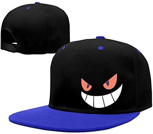 Hittings Gengar Halloween Face Snapback Hats Flat Brim Hip-Hop Caps Royalblue (Texas Halloween Arizona)