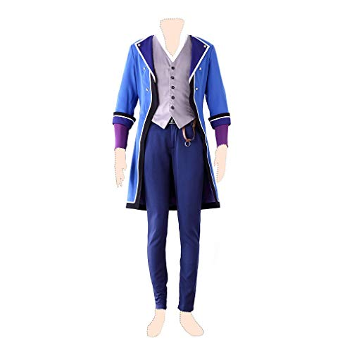 Kostüm Cosplay Fushimi Saruhiko - Dream2Reality K Cosplay Kostuem Fushimi Saruhiko Ver.1 K Side_Blue Uniform Medium