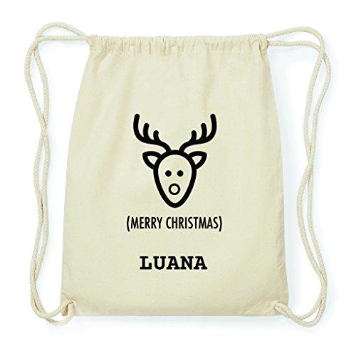 JOllify Turn sacchetto regalo per Luana Natale Zaino in cotone bpx5659, natur: Elch Weihnachtselch