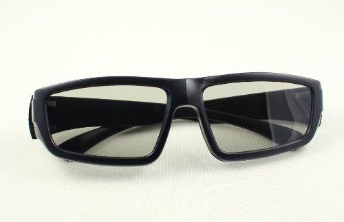 4 Pares de pasiva Universal gafas 3D para todos TV y cine de alta calidad color negra