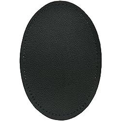 Haberdashery Online 2 rodilleras piel color Negro. Coderas para proteger tu ropa y reparación de pantalones, chaquetas, jerseys, camisas, blusas. 16 x 10 cm. Ref. RSP1