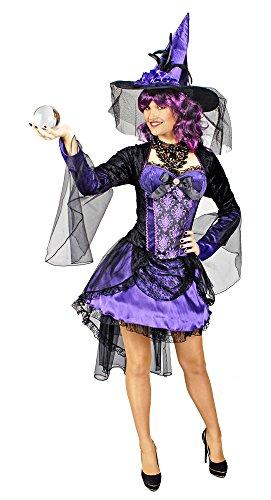 KÃrner Festartikel Burlesque Hexe Halloween Damenkostüm lila-schwarz M -