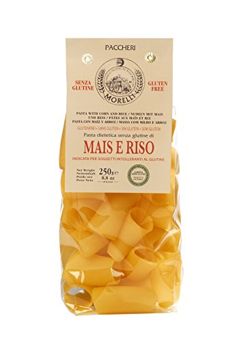 Antico Pastificio Toscano MORELLI - Paccheri Corn and Rice - Gluten Free - (250 grams)