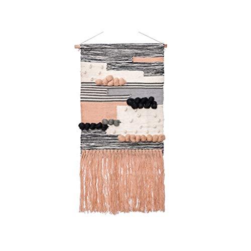 LYYRB Handgewebte Wandteppiche aus Wolle Wandschmuck Wandbehang 90 × 45cm Tapisserie -
