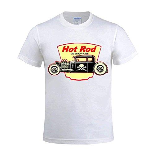 CLOCT Traditional Hot Rods Men's CrewNeck Classic T Shirts?XXX-Large?