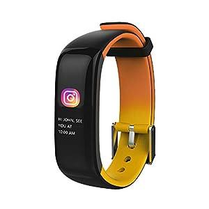 Jersh Electronic Smart Watch,P1 Plus Wristband Blood Pressure Watch Blood Oxygen Heart Rate Touch Button Smart Watch Message Reminder Bluetooth Sports Bracelet