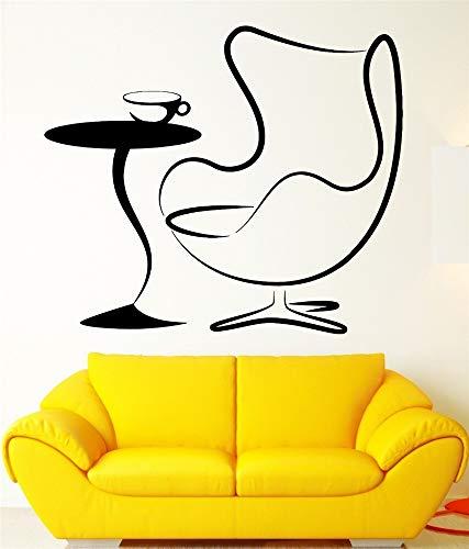 Wandaufkleber Schlafzimmer Sessel Couchtisch Wohnzimmer Aufkleber für Café Coffee Shop -