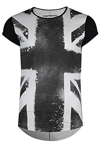 trueprodigy Casual Herren Marken T-Shirt mit Aufdruck, Oberteil cool und stylisch mit Rundhals (kurzarm & Slim Fit), Shirt für Männer bedruckt Farbe: Schwarz