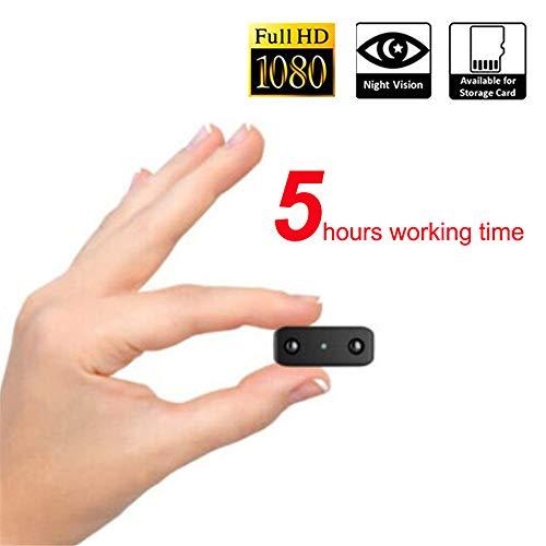 FOUR Telecamera Nascosta, videocamera Portatile Mini HD Nanny Cam Videoregistratore con Visione Notturna a infrarossi, Slot per schede SD TF per sorveglianza di Animali Domestici, Neonati e Domestici