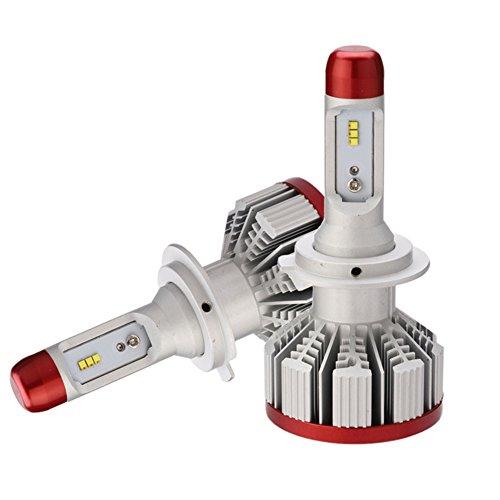 JAYLONG H7 LED Scheinwerferlampen 1 Paar, 6500K Hallo-Lo Dual Beam H7/H11/9005/9006 Autoscheinwerfer, 6000LM Helle ZES Chips Umbausatz Fit Für Alle Auto/Motorrad-Modelle - 1 Jahr - 2003 Toyota Scheinwerfer Camry