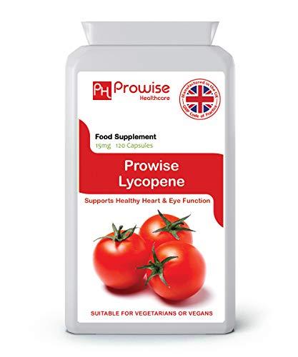 LICOPENO 15mg 120 cápsulas, Calidad garantizada GMP fabricada en el Reino Unido, adecuada...