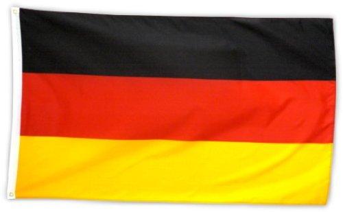 SicurezzaPrima Fanartikel Deutschlandfahne 90 x 150cm - Fahne Deutschlandflagge schwarz rot Gold Fussball Weltmeisterschaft Damen, Herren und Kinder Fußball Fans