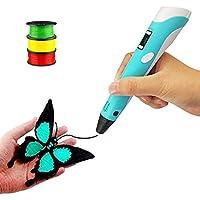 MAXWELLS 3D Printing Pen   3D Drawing Pen with LCD Display, Temperature Control & Free 3 PLA Filament Refills  Best Gift…