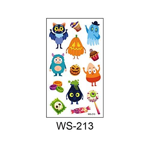 zgmtj 2019 Neue Halloween Cartoon Spaß Kinder Tattoo Aufkleber WS-213 105x60mm