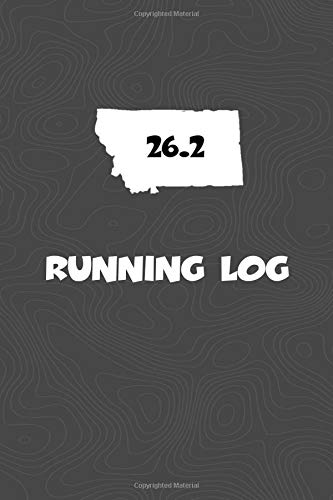 Running Log: Blank Lined Journal for anyone that loves Montana, running, marathons! por KwG Creates