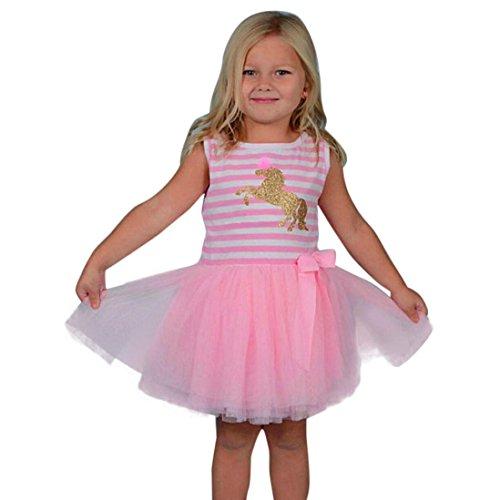 veless Festzug Party Prinzessin Kleid Kleinkind Kinder Baby Mädchen Kleidung ()