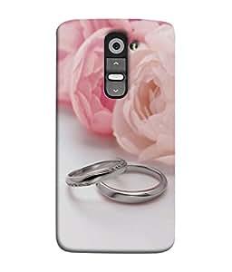 PrintVisa Designer Back Case Cover for LG G2 :: LG G2 Dual D800 D802 D801 D802TA D803 VS980 LS980 (Tow Little Ring With Bunch Of Flower Roses Beauty)