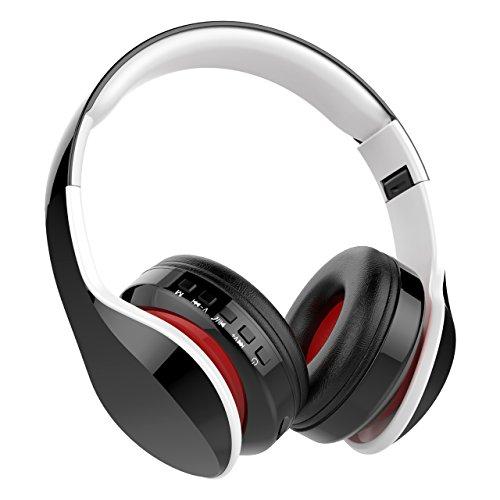 Casque Bluetooth Audio Sans Fil Fonction 4-en-1, NickSea Casque Pliable, Microphone Intégré, Bluetooth, Radio, Carte de Mémoire, Hi-Fi Audio, Compatible avec iPhone, PC Mac etc