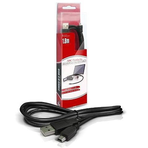 ABC Products® Remplacement Canon USB Câble IFC-400PCU / IFC-400 (Pour Transfert d'images) pour la plupart EOS / Ixus / Powershot Appareil Photo Numérique (modèles indiqués ci-dessous)