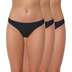 Yenita® Tanga Sin Costuras de Microfibra para Mujer, Pack de 3