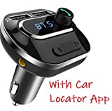 VeeDee Bluetooth FM Transmitter, T19 Radio Adapter Bluetooth Car Kit, 5V/3.1A Dual USB