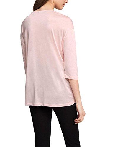ESPRIT Collection 026eo1k008 - Soft Quality - T-Shirt - Femme Multicolore - Mehrfarbig (PASTEL PINK 695)