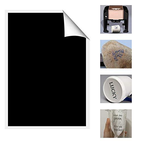 Lastra in plastica per incisione CNC e Laser Bianco//Nero 300x200mm