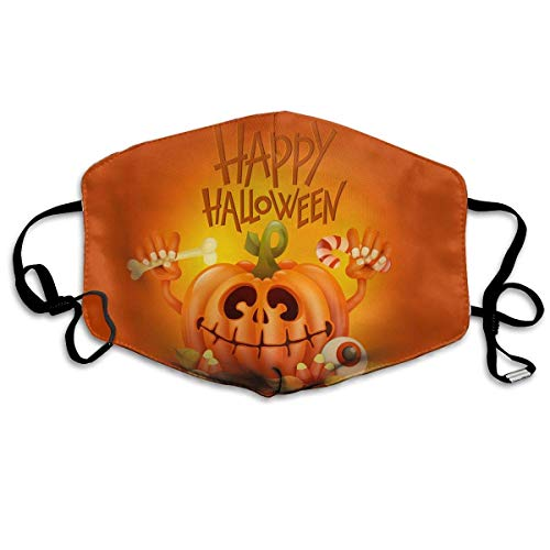 Vbnbvn Unisex Mundmaske,Wiederverwendbar Anti Staub Schutzhülle,Happy Halloween Pattern - Erdbeer-halloween-kostüm
