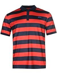 Slazenger Homme Bold Rayure Polo Shirt T-Shirt Tee Top Haut Manches Courtes