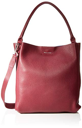 Marc O'Polo Damen Thea Schultertasche, Rot (Berry Red), 12x37x34 cm