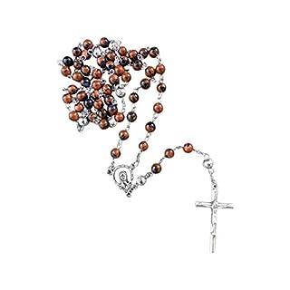 Zinngeschenke Rosenkranz mit 59 Perlen aus echtem Goldfluss/Blaufluss, aus eigener Herstellung, sehr Edel und ein Unikat. Beschreibung siehe Details neben dem Produkt