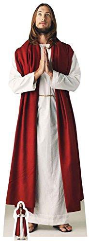 Jesus Christus Lebensgröße Pappschneider Free Mini Cut, Karton, Mehrfarbig, 187 x 67 x 187 cm