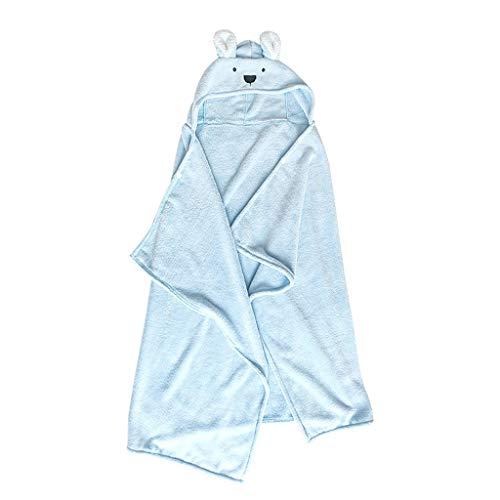 Tier Kapuze Baby-Handtuch Waschlappen Ultra Soft und Extra Large, 100% Baumwolle Bademantel for Groß Kind/Neugeborenes Dusche Geschenk for Jungen oder Mädchen (0-7 Jahre) (Color : Blue)