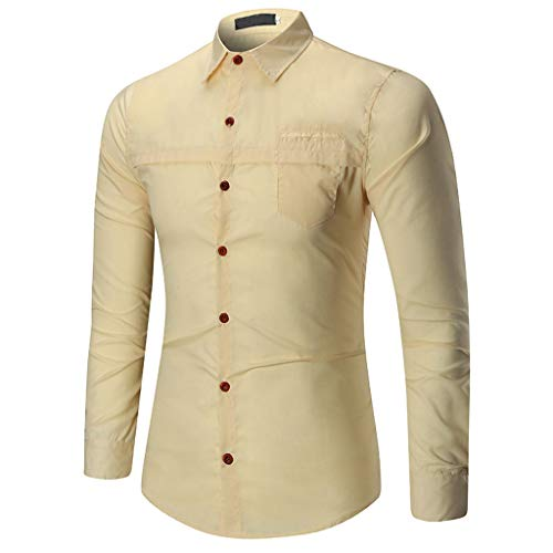 c5450dd14e0327 Camicetta Top da Uomo a Manica Lunga Slim t-Shirt Manica Lunga Casual  Primavera Estate